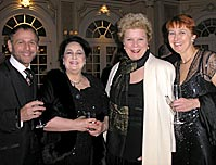 Opera Index Inc. (Vocal Competion) Gala, left to right, Ira Siff, Diane Arnstein, Jane Marsh, Austrian Consulate General Brigitta Blaha
