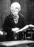 Jane Marsh in the recording studio.